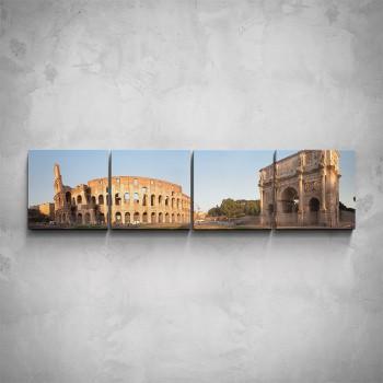 4-dílný obraz - Památky v Římě