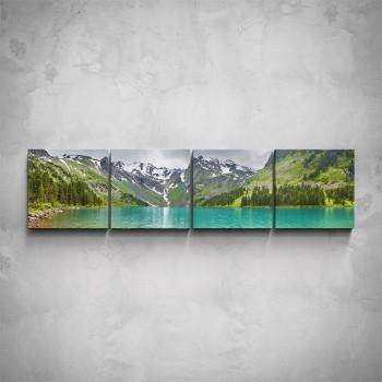 4-dílný obraz - Horské jezero
