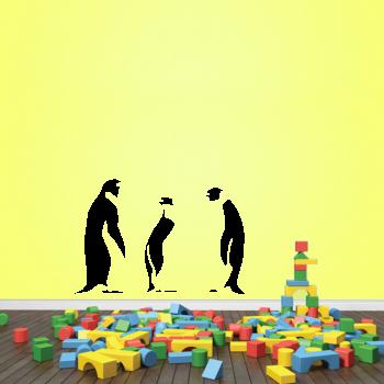Samolepka na zeď - Tučňáci set 3 ks