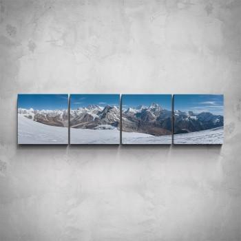 4-dílný obraz - Zimní hory