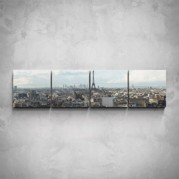 4-dílný obraz - Pohled na Paříž
