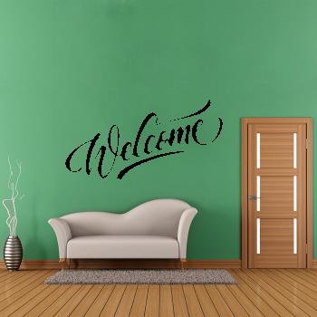 Samolepka na zeď - Welcome nápis