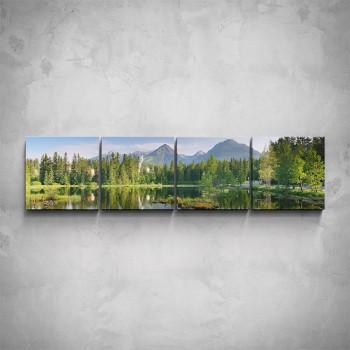 4-dílný obraz - Horská příroda