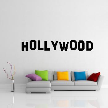 Samolepka na zeď - Hollywood nápis