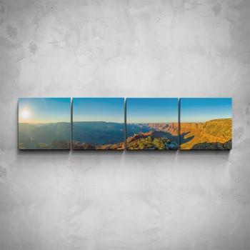 4-dílný obraz - Horské panorama