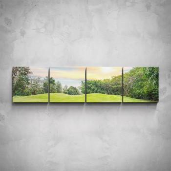 4-dílný obraz - Zelená krajina