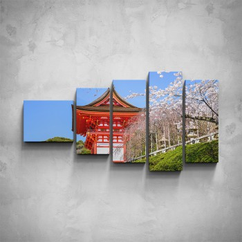 5-dílný obraz - Čínská architektura