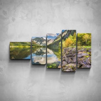 5-dílný obraz - Horské jezero