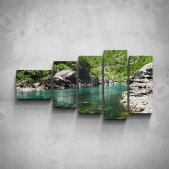 5-dílný obraz - Horská řeka