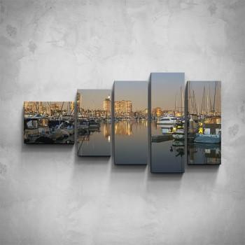 5-dílný obraz - Městský přístav