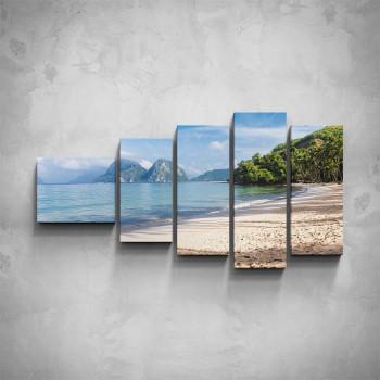 5-dílný obraz - Písečná pláž