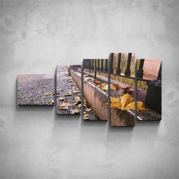 5-dílný obraz - Podzimní ulice