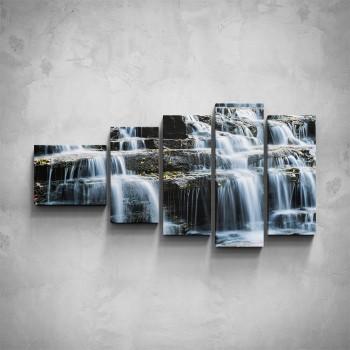 5-dílný obraz - Kaskádový vodopád