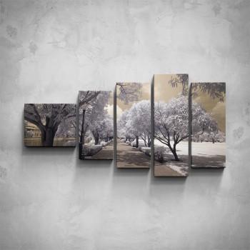 5-dílný obraz - Zimní park