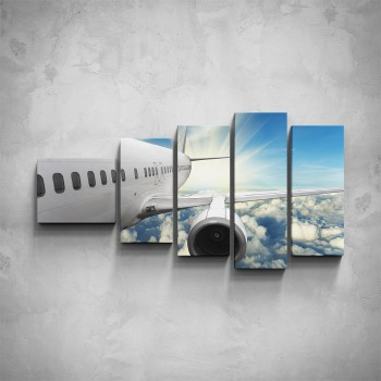 5-dílný obraz - Detail letadla