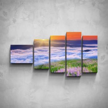 5-dílný obraz - Horské panorama