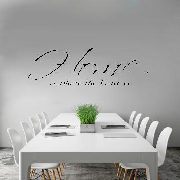 Samolepka na zeď - Home nápis