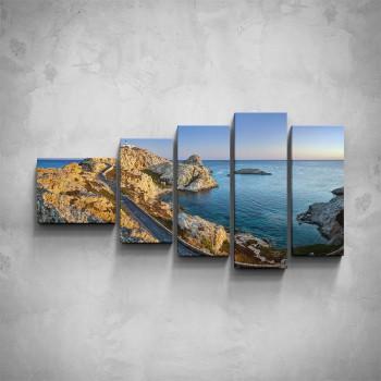 5-dílný obraz - Pohled na pobřeží