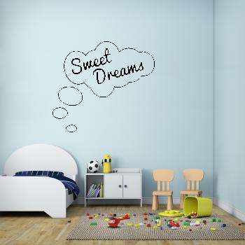 Samolepka na zeď - Sweet dreams nápis