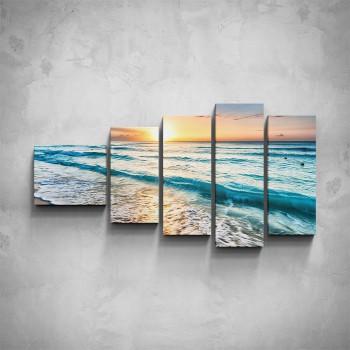 5-dílný obraz - Vlny na moři
