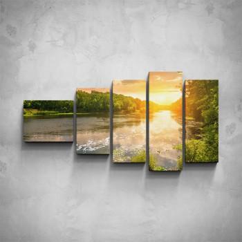 5-dílný obraz - Řeka