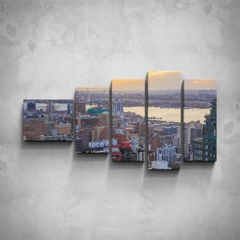 5-dílný obraz - Pohled na velkoměsto