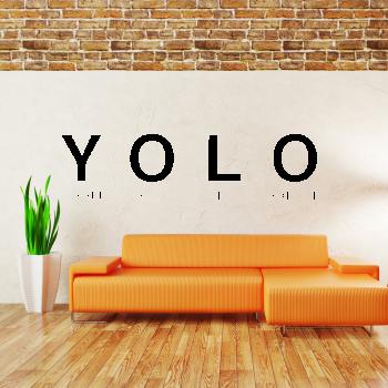 Samolepka na zeď - YOLO nápis