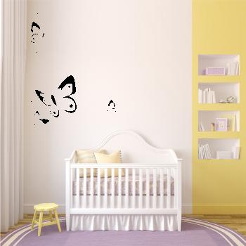 Samolepka na zeď -  Motýl ornament