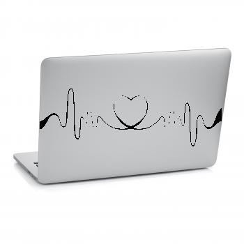 Samolepka na notebook - Srdeční tep