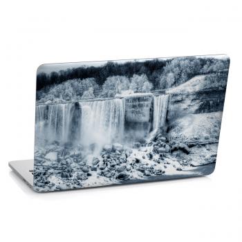 Samolepka na notebook - Zimní krajina