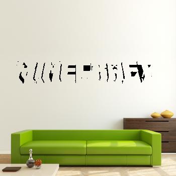 Samolepka na zeď - Minecraft nápis