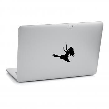 Samolepka na notebook - Holčička na houpačce