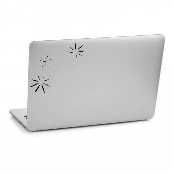 Samolepka na notebook - Květy set