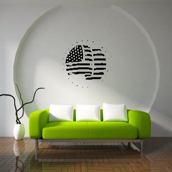 Samolepka na zeď - Americká vlajka