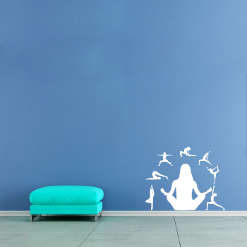 Samolepka na zeď - Jóga