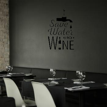 Samolepka na zeď - Save Water - 61x95 cm