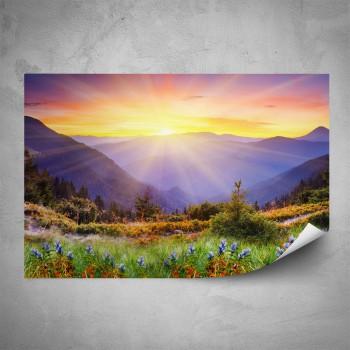 Plakát - Horská krajina