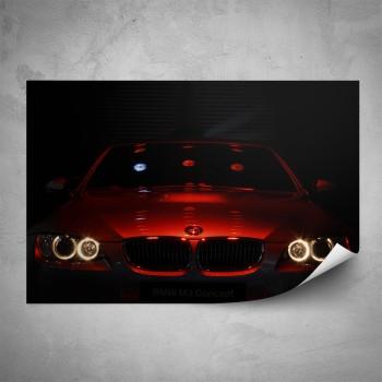 Plakát - Červené BMW