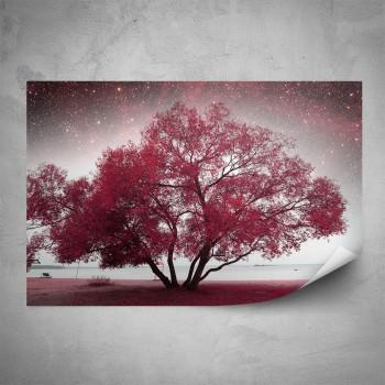 Plakát - Červený strom