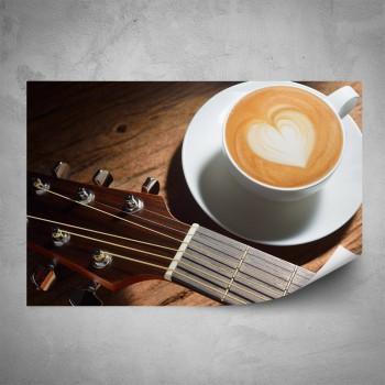 Plakát - Káva pro kytaristu