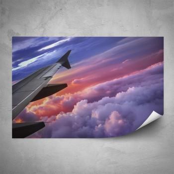 Plakát - Křídlo letadla detail