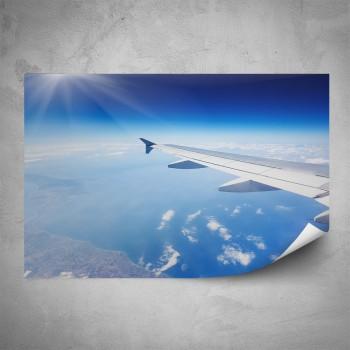 Plakát - Křídlo letadla