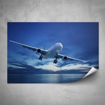 Plakát - Letadlo nad mořem