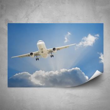 Plakát - Letadlo v oblacích