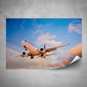 Plakát - Letadlo při přistání