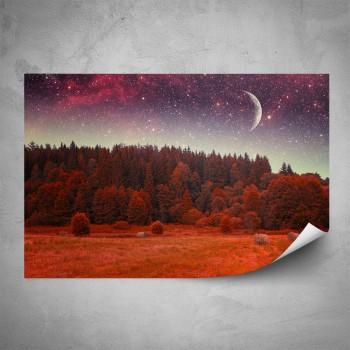 Plakát - Červený les