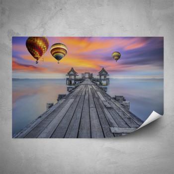 Plakát - Horkovzdušné balóny nad molem
