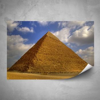 Plakát - Pohled na pyramidu