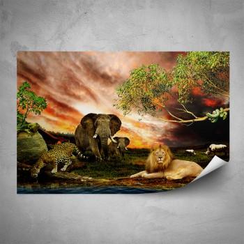 Plakát - Africká zvířata