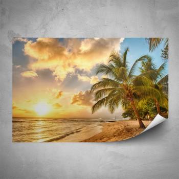 Plakát - Západ slunce na pláži